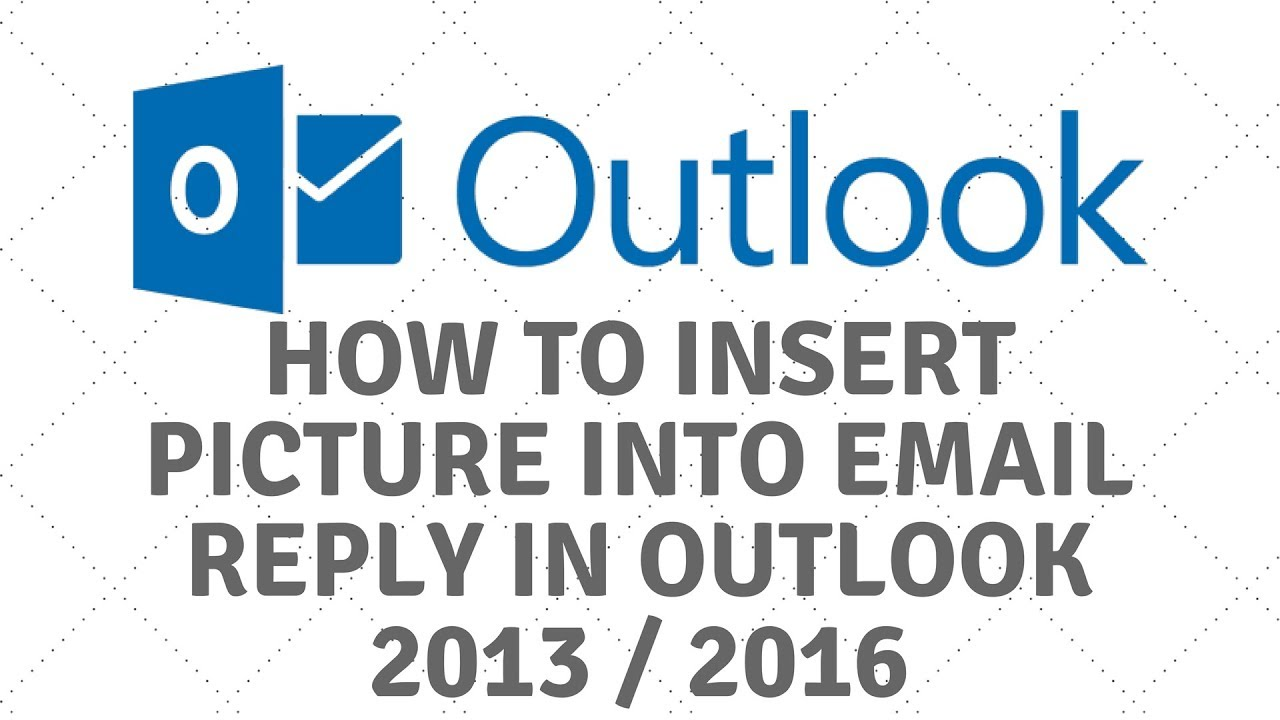 Insert Picture into Email in Outlook 2013 / 2016.