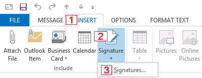 How to create or modify an email signature in Outlook 2010 and 2013.