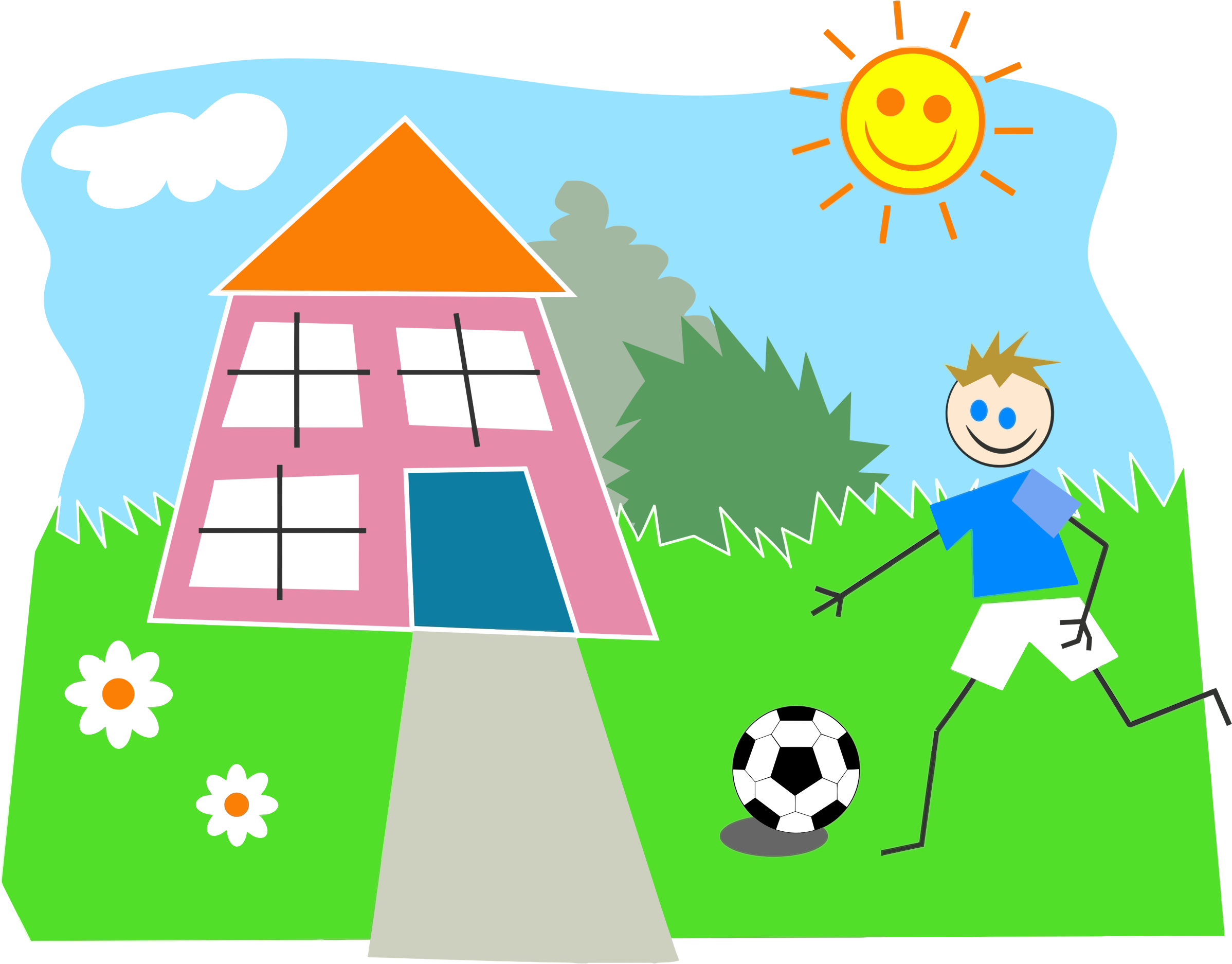 Outside Play Clipart.