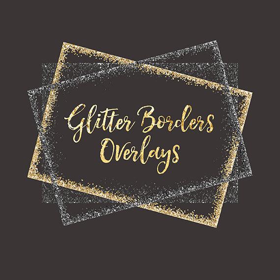 Glitter Borders Clipart Overlay: gold glitter, glitter.