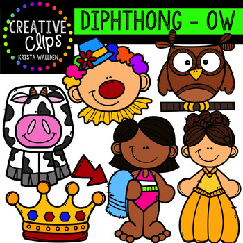 Diphthong Clipart: OW {Creative Clips Digital Clipart}.