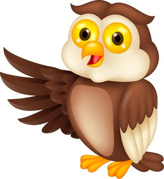 Owl reading clip art.