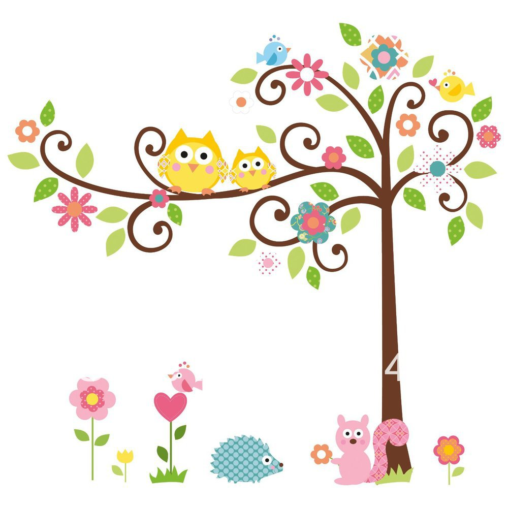 Owl In Tree Clipart.