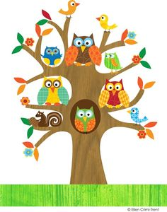 Owl in tree clipart 2 » Clipart Station.