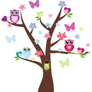 Owl in tree clipart » Clipart Station.