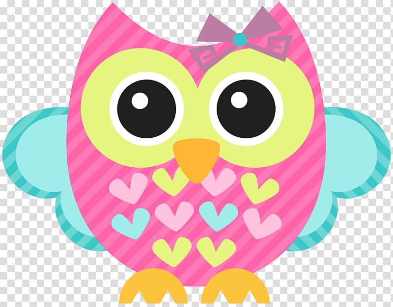 Pink and teal owl illustration, Owl Free , owls transparent.