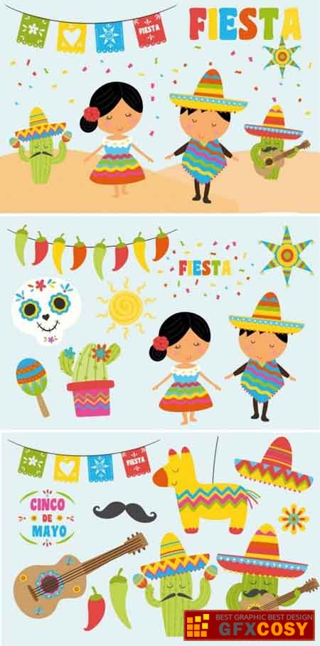 FIESTA clipart pack » Free Download Photoshop Vector Stock.