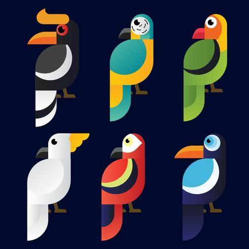 Bird Clipart Vector Pack.