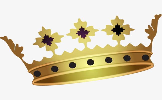 Golden crown deluxe PNG clipart.