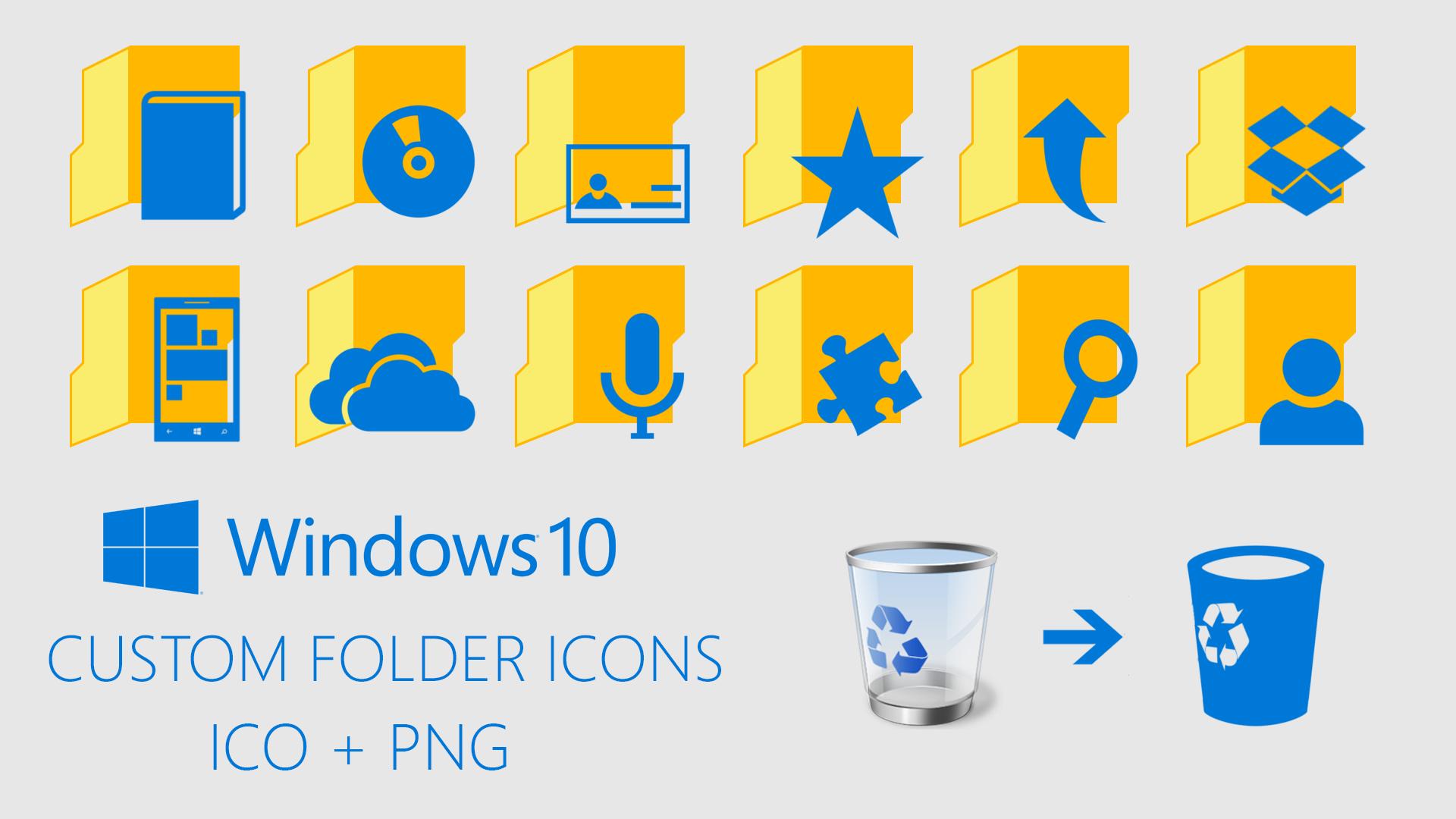 Windows 10 Custom Folder Icons by davidvkimball on DeviantArt.