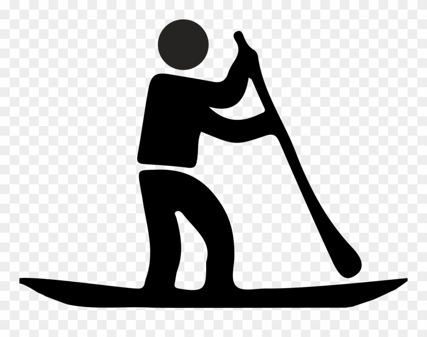 Stand Up Paddle Icon Clipart (#893907).