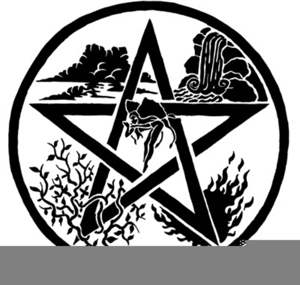 Pentagrams And Pagan Symbols And Clipart.