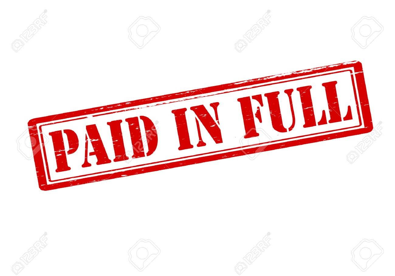 Paid in full clipart 7 » Clipart Station.