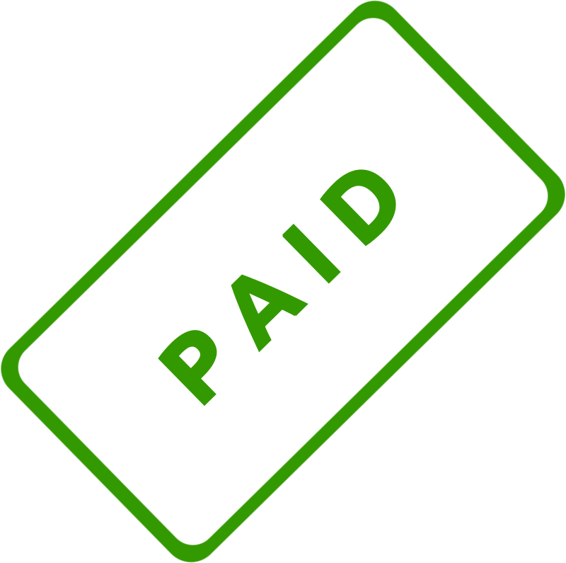 Free Clipart: Paid Business Stamp 1.