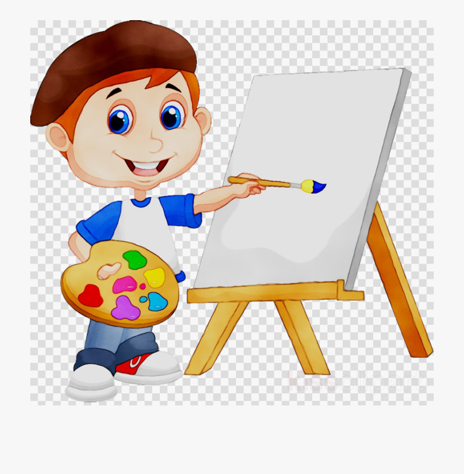 Cartoon Painting Clipart.
