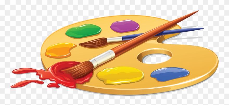 Palette Painting Brush Clip Art.
