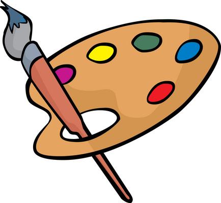 Paint Pallet Clipart.