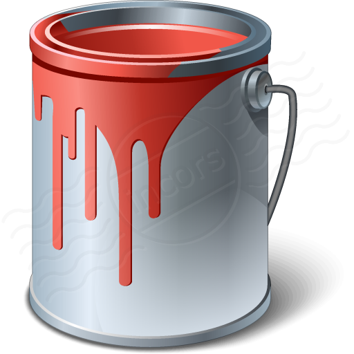 Red Paint Can Clipart.
