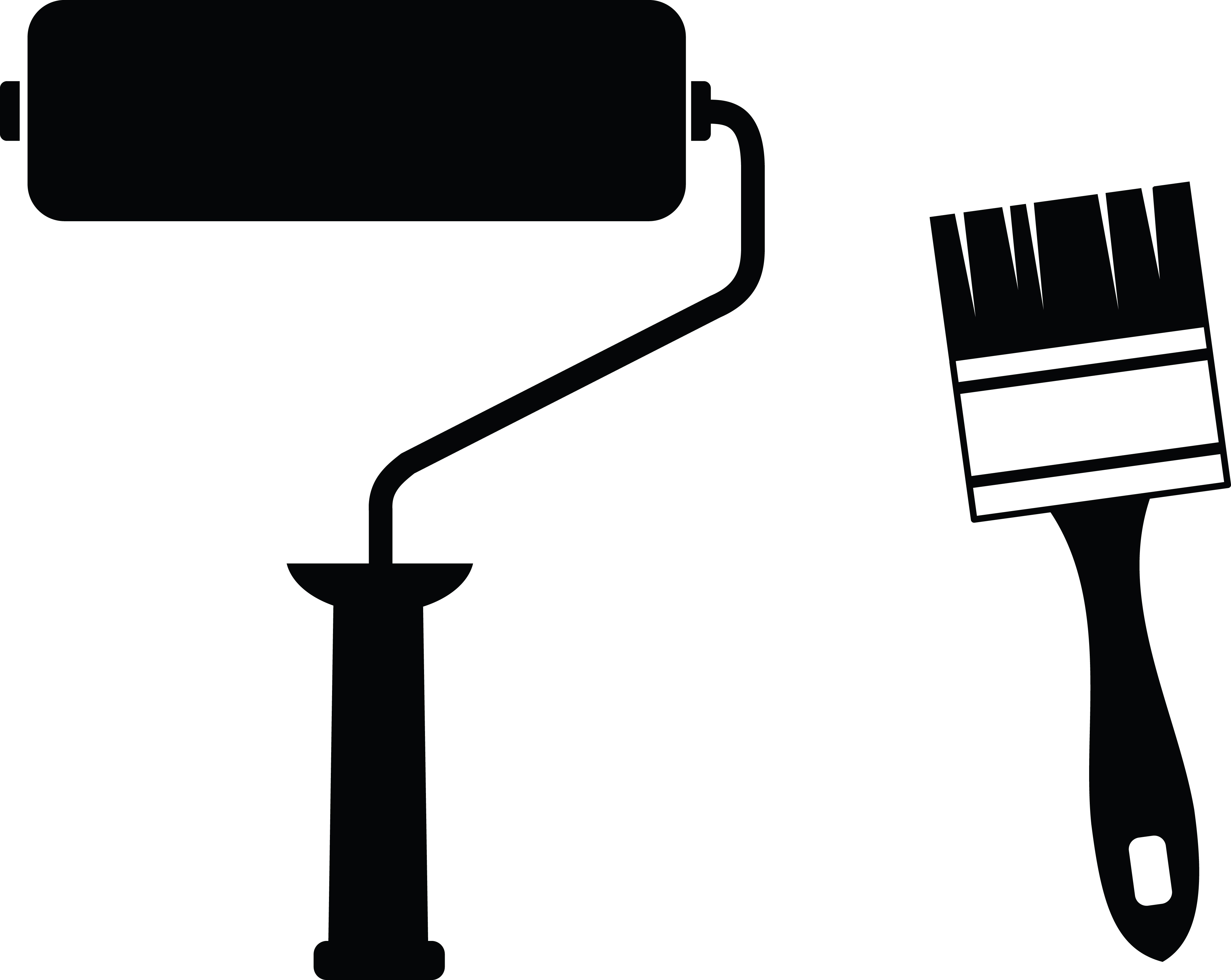 Paint Roller Clipart Black And White.