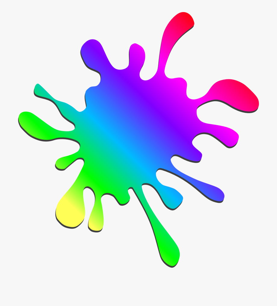 Splatter Paint Clipart.