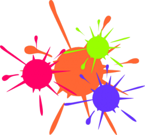 Paintball Splatter 1 Clip Art.