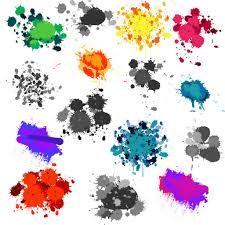 Paintball Splatter Backgrounds.