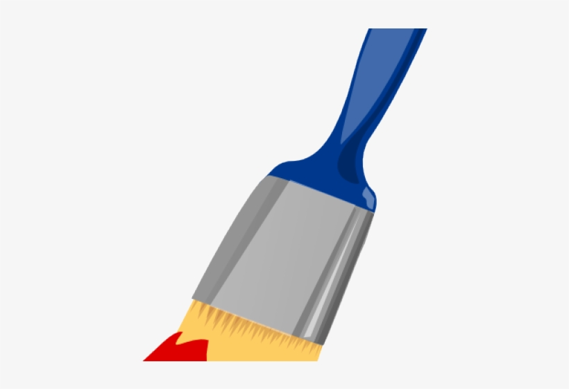 Paint Brush Clipart Red.