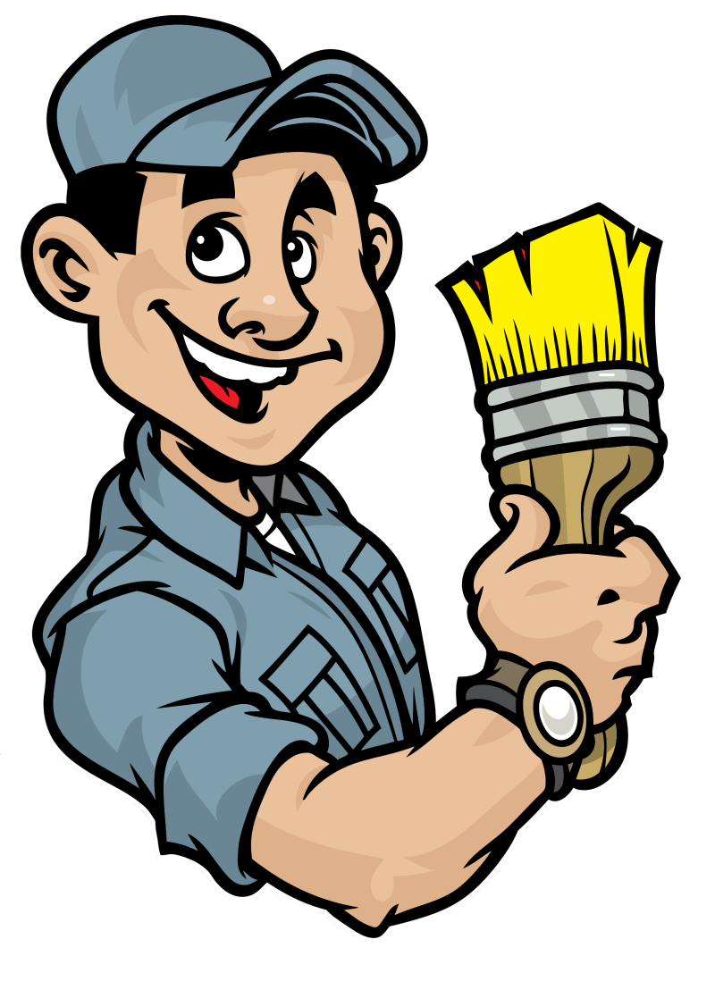 Contractor clipart painter, Contractor painter Transparent.