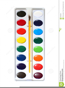 Watercolor Paints Clipart.