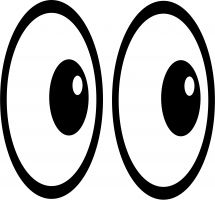 Pair of eyes clipart » Clipart Station.