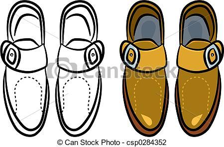 Clip Art of mens shoes.