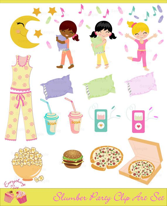 134 best images about Pajama party Printable on Pinterest.