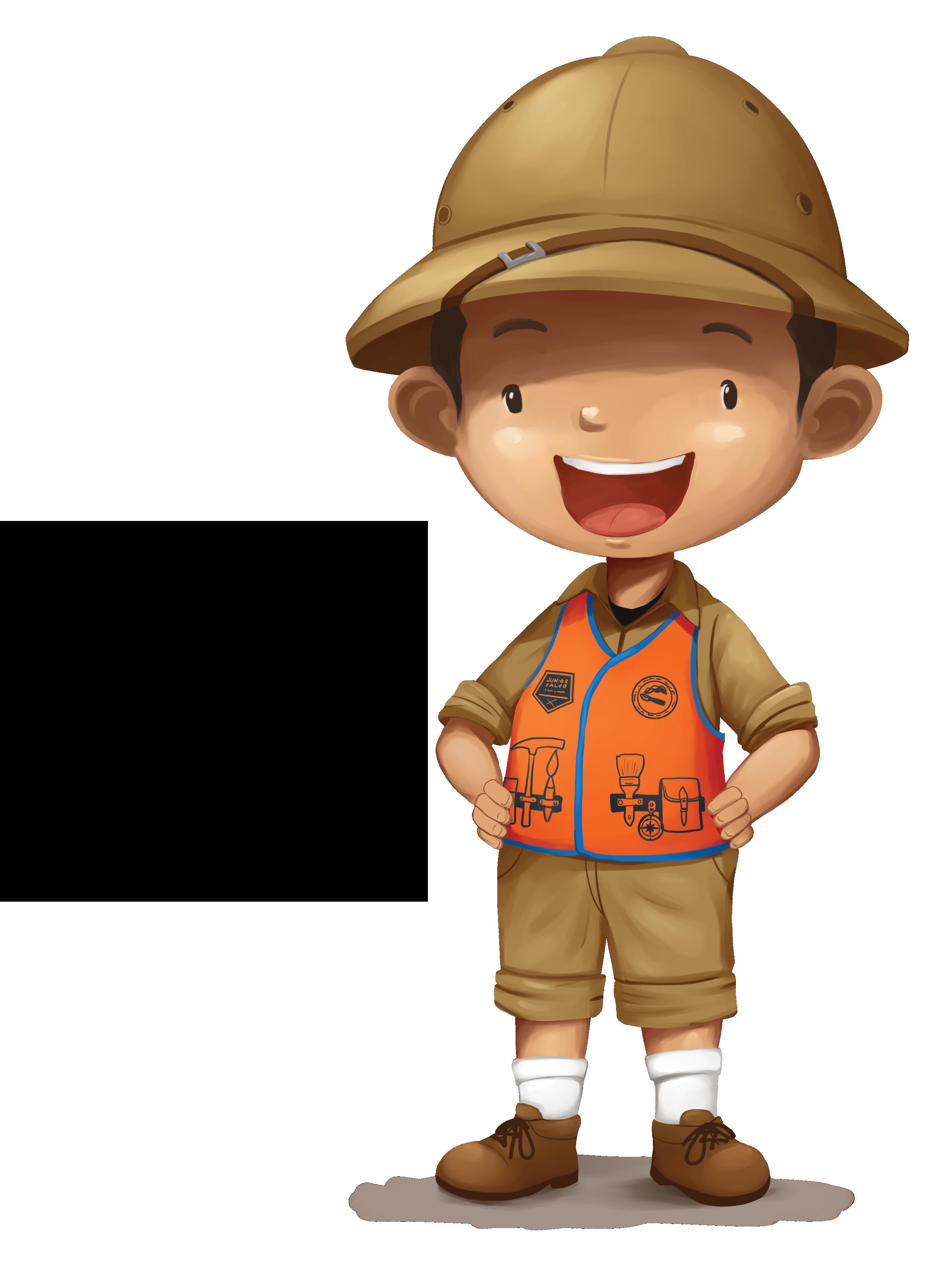 Explorer clipart paleontologist, Explorer paleontologist.
