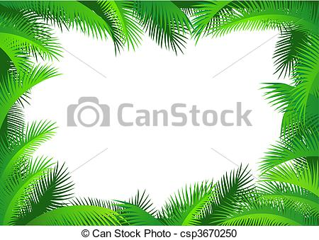 Vector Clipart of Palm leaf border csp3670250.