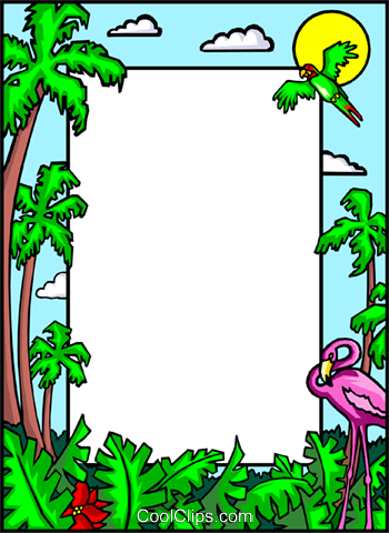 Clipart Palm Tree Borders.