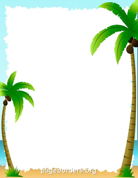Palm Tree Border Clipart.