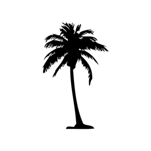 Free Clipart Palm Tree Silhouette.
