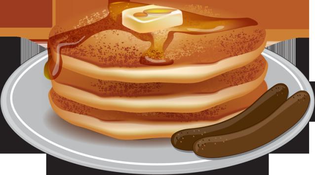 pancake and sausage clipart.