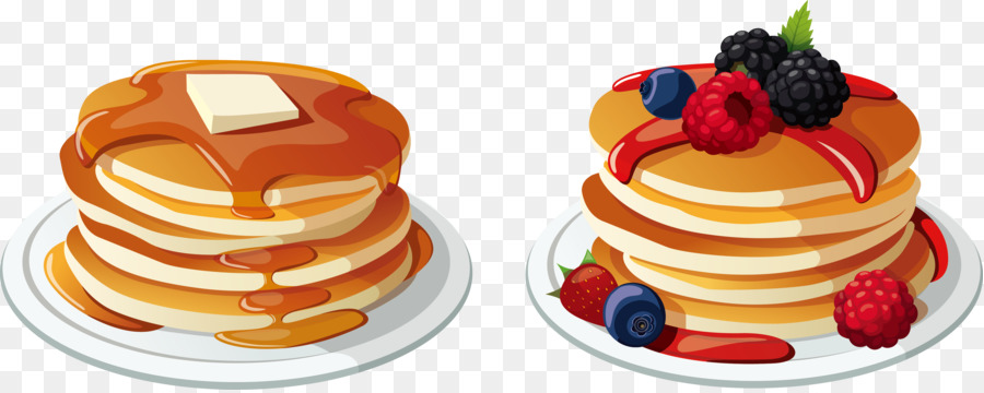 Pancake Breakfast Bacon Cream Clip art.