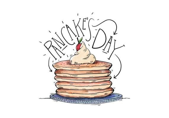 Pancake\'s Day Illustration in 2019.