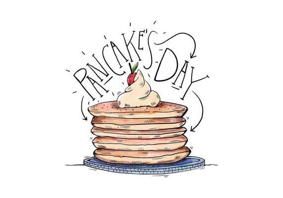 Pancake\'s Day Illustration in 2019.