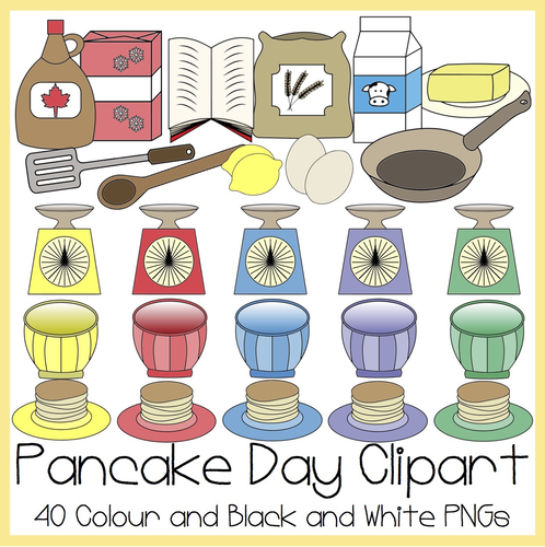 Pancake Day Clipart.