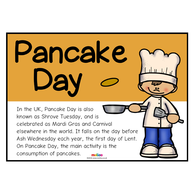 Pancake Day.