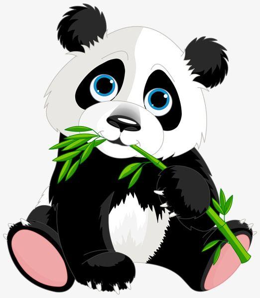 Hand Painted Cartoon Panda Aberdeen, Cartoon Clipart, Panda.