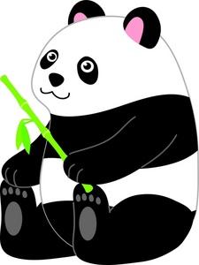 Panda Bear Clipart Image.