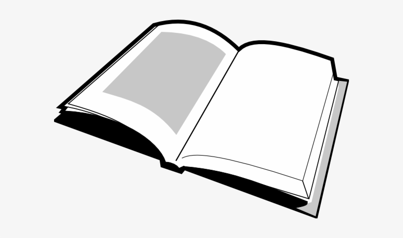 Open Book Clipart Black And White Clipart Panda Free.
