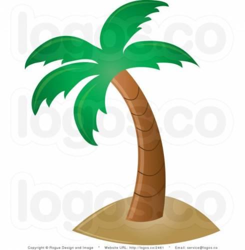 Hawaiian Palm Tree Clip Art.