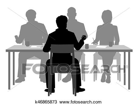 Interview panel Clipart.