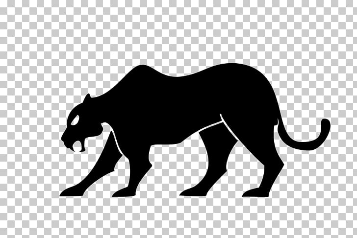 Black panther Cougar Silhouette , black panther PNG clipart.