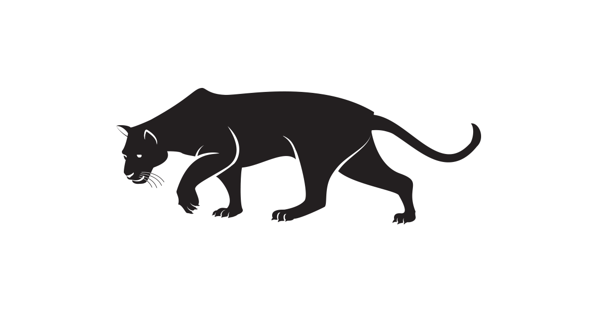 Black panther Cougar Clip art.